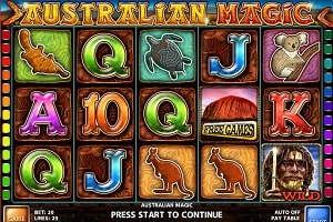 Machine à sous Australian Magic